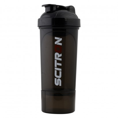 Scitron Slim Protein Shaker Bottle 350 ml With Storage Compartment