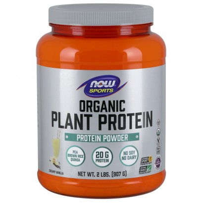 Now Organic Plant Protein Powder 2lbs