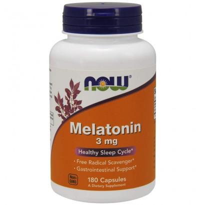 Now Melatonin 3mg 180 Caps