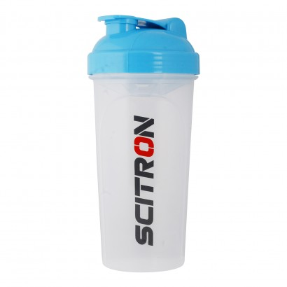 Scitron Protein Shaker, 700 ML, White & Blue