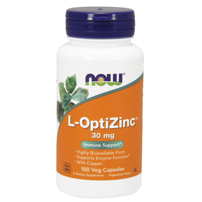 Now Foods L-OptiZinc® 30 mg Veg Capsules