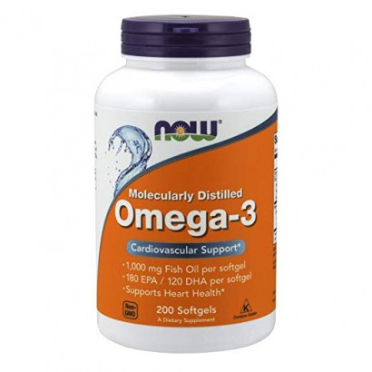 NOW FOODS OMEGA-3 1000MG- 200 SGELS