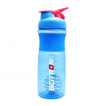 SCITRON PLASTIC BLENDER SHAKER BOTTLE WITH STAINLESS BLENDER BALL - Blue