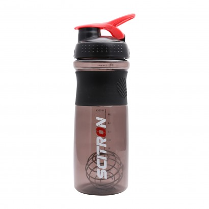 SCITRON PLASTIC BLENDER SHAKER BOTTLE WITH STAINLESS BLENDER BALL - Black