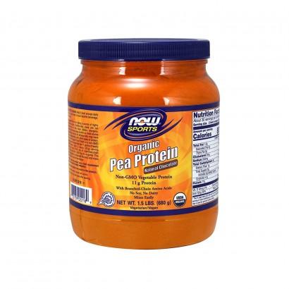 NOW Organic Pea Protein Powder, 680 gm