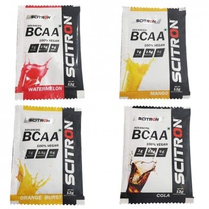 Scitron Advanced BCAA 100% Vegan 4 Flavour Variety Box