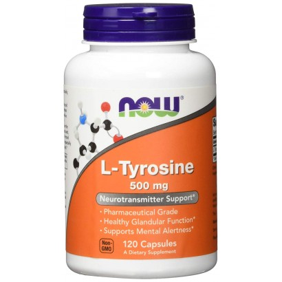 Now Foods L-Tyrosine 500mg - 120 Capsules