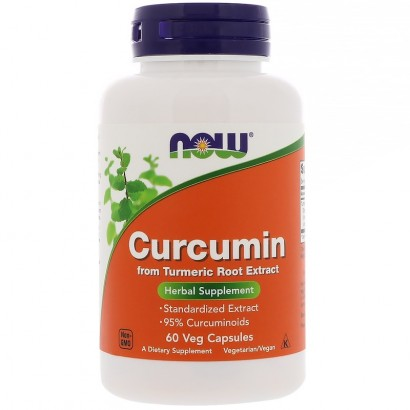 NOW Foods Curcumin  Extract 60 Vcaps