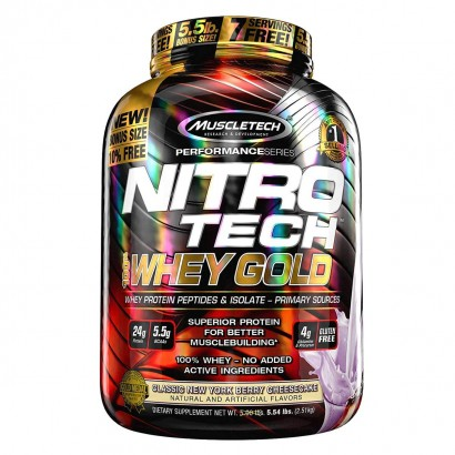 MUSCLETECH NITRO-TECH PERFORMANCE SERIES 100% WHEY GOLD, DULCE DE LECHE