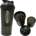 MuscleTech Shaker Bottle, with storage cup