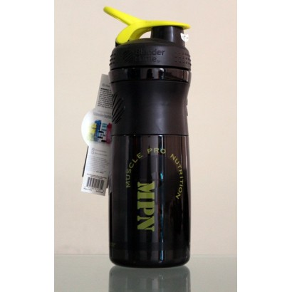 MPN, SportMixer Blender Bottle, Black/Yellow, 28 oz Bottle
