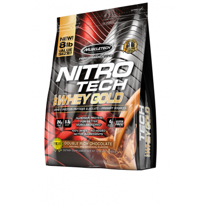 MuscleTech NITRO-TECH 100% Whey Gold, 8 lbs