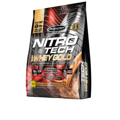 MuscleTech NITRO-TECH 100% Whey Gold, 8 lbs