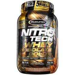 MuscleTech NITRO-TECH Whey Plus Isolate Gold, 2lbs