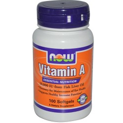 Now Vitamin A 10,000 IU 100 Sgels