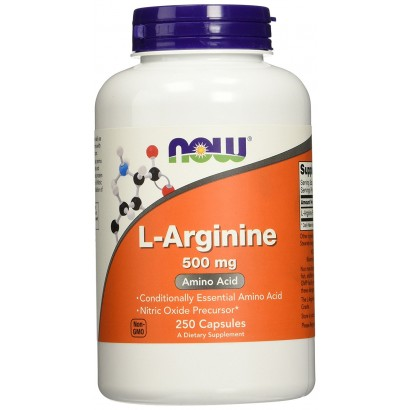NOW L-Arginine 500mg, 250 Caps