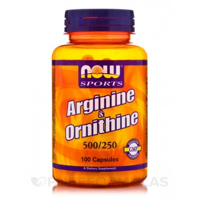 NOW Arginine & Ornithine, 100 Caps