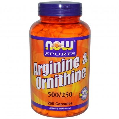 NOW Arginine & Ornithine, 250 Caps