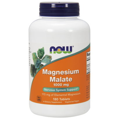 Now Foods Magnesium Malate, 180 Tabs 1000 mg