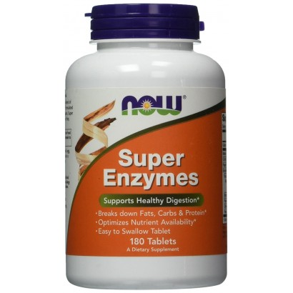 NOW SUPER ENZYMES 180 Tabs