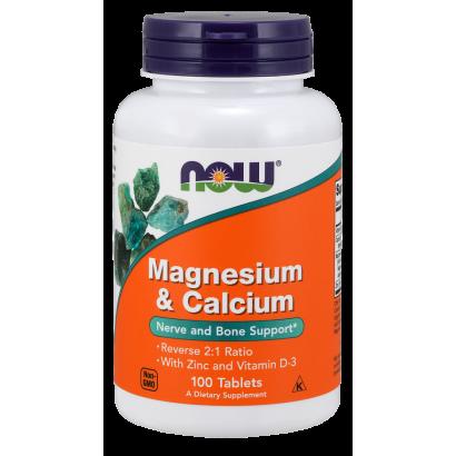 NOW-Magnesium & Calcium 2:1 ratio 100 tabs